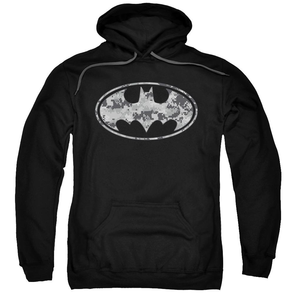 Batman Urban Camo Shield Mens Pullover Hoodie by Trevco