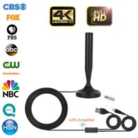Fysho HD Digital TV Singal Indoor Antenna With Amplifier Signal Booster & 13ft Coax Cable - Support UHF Free View Local Channels