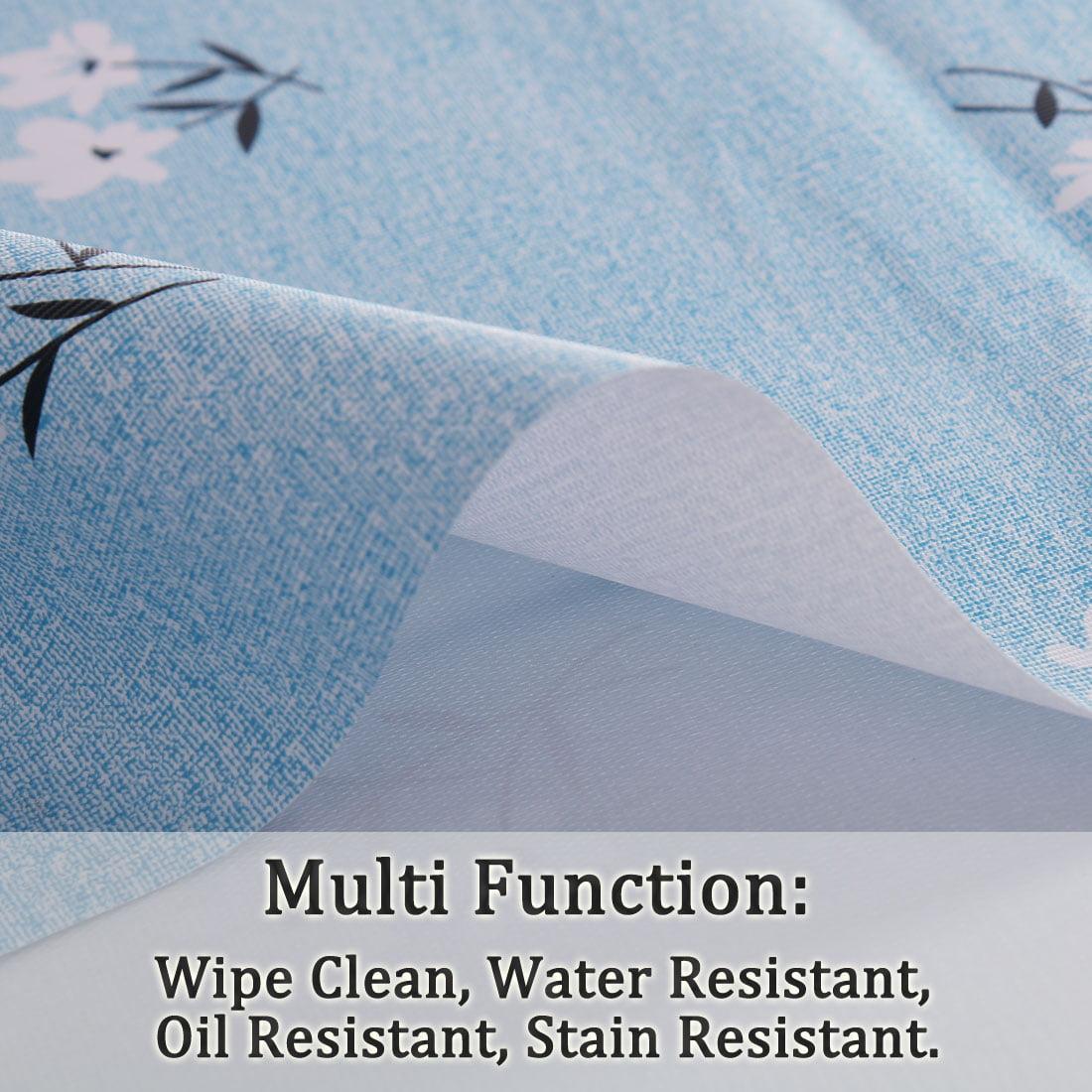 "Tablecloth PVC Vinyl Table Cover Oil Water Resistant Table Cloth 54"" x 79"", #4 - image 1 de 7"