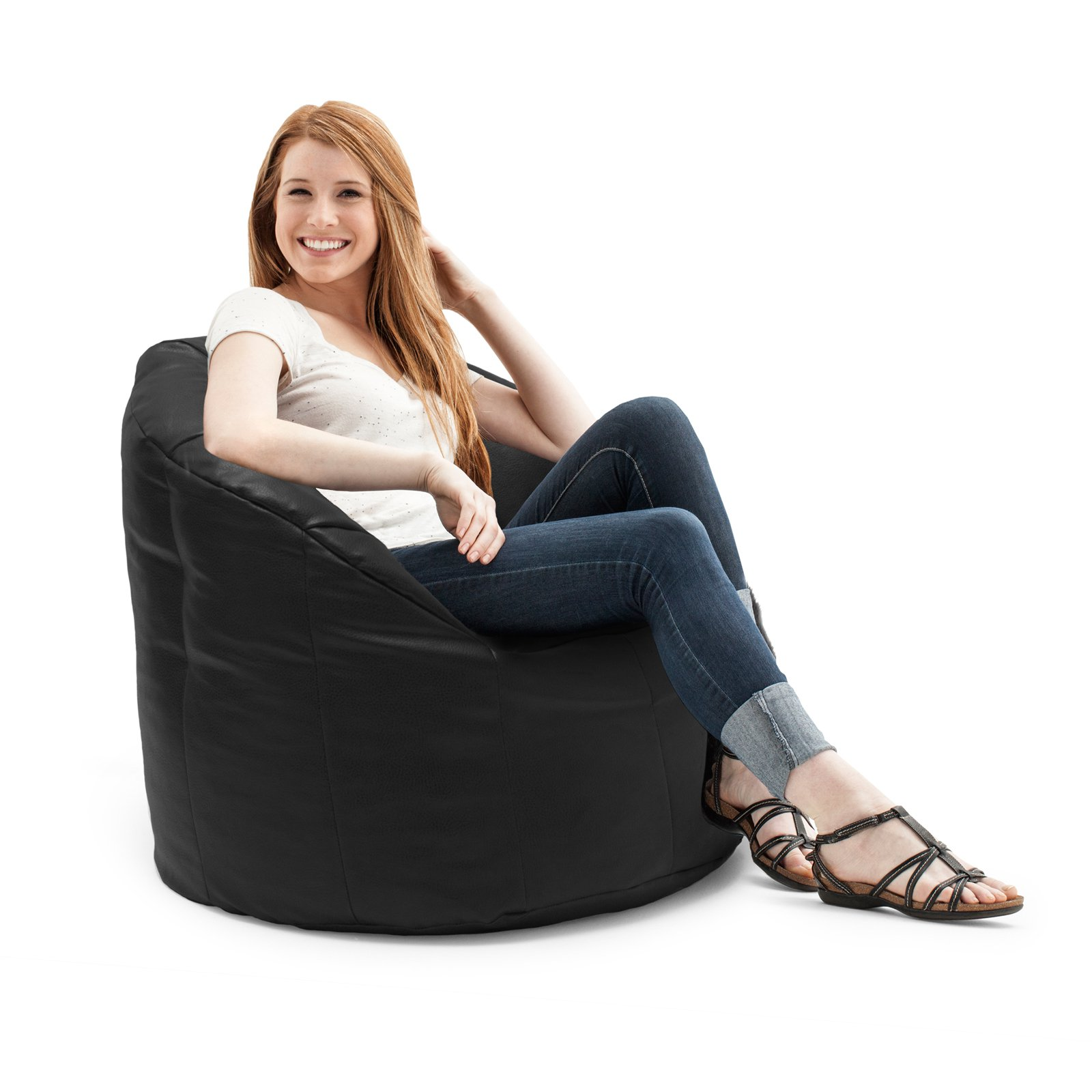 Big Joe Milano Bean Bag Vegan Faux Leather Chair Walmart