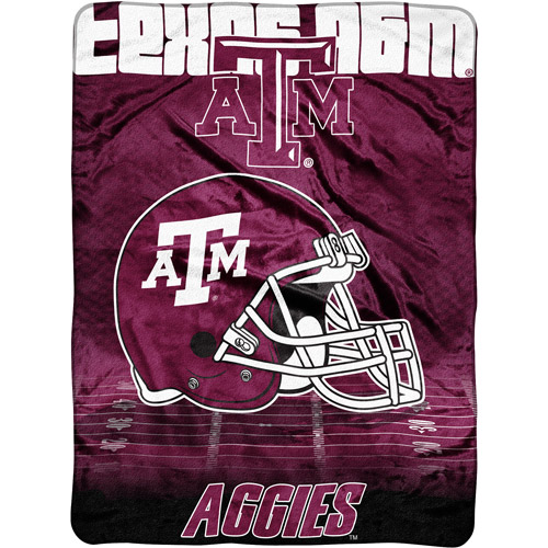 "NCAA Overtime 60"" x 80"" Blanket, Texas A&M"