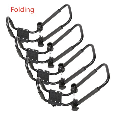 Universal 2 Pairs Folding Kayak Roof Rack J-Bar For Canoe SUV Top Mount Car
