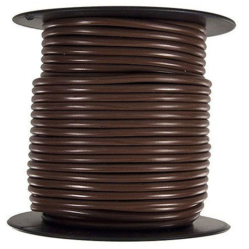JT&T Products 128C 12 AWG Brown Primary Wire, 100' Spool