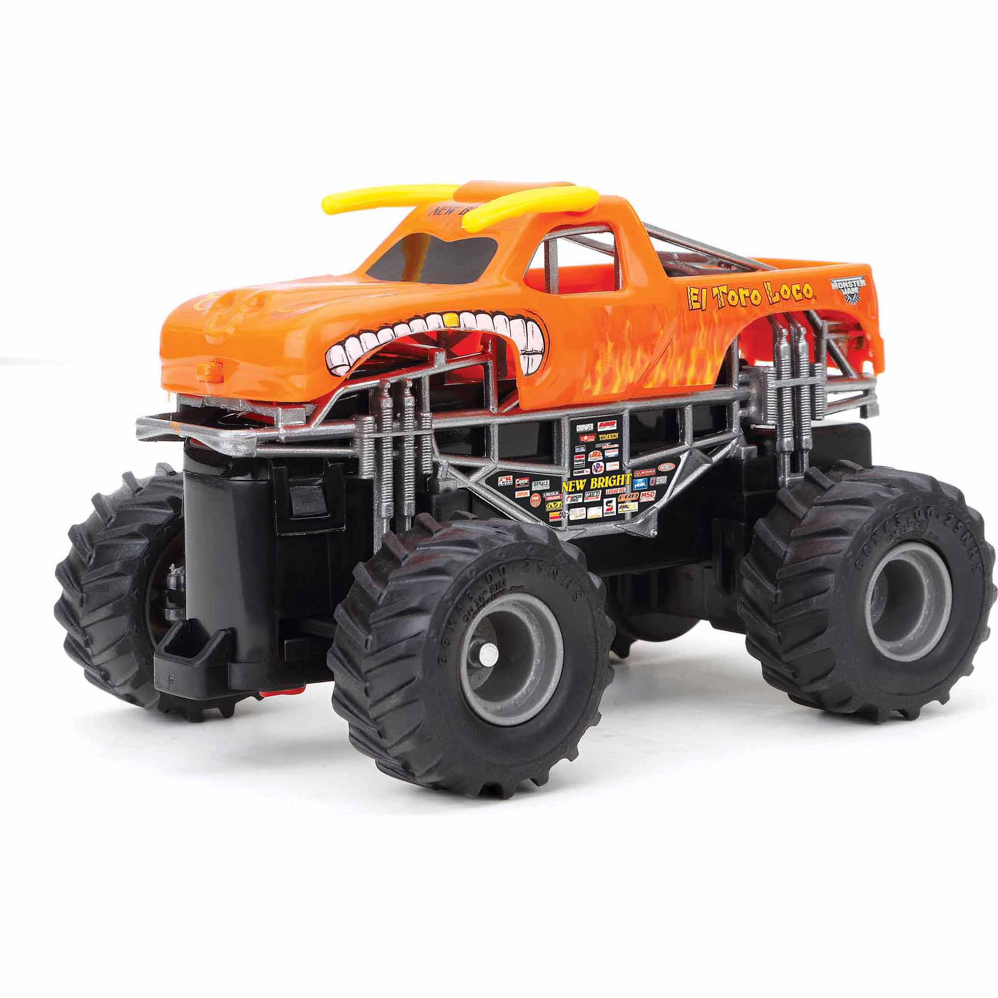 New Bright 1:43 Radio Control Full-Function Monster Jam El Toro Loco, Orange