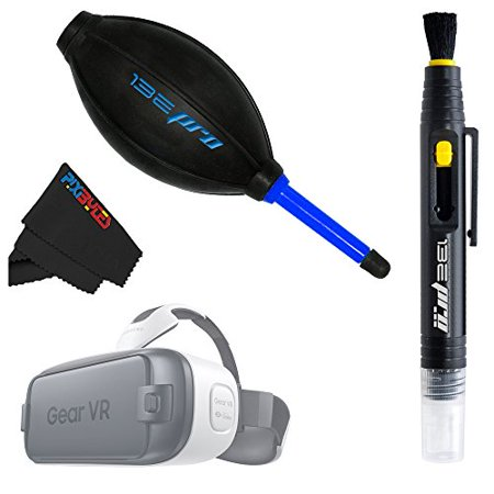 I3ePro Basic Accessory Kit for Galaxy Gear VR. Includes the I3ePro Professional Dust Blower + I3ePro 2-in-1 Cleaning Pen + Pixibytes Microfiber VR Cleaning (Care Kit Dust)