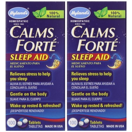 - Hyland's Calms Forte Homeopathic Sleep Aid (2 Bottles = 200 Tablets)