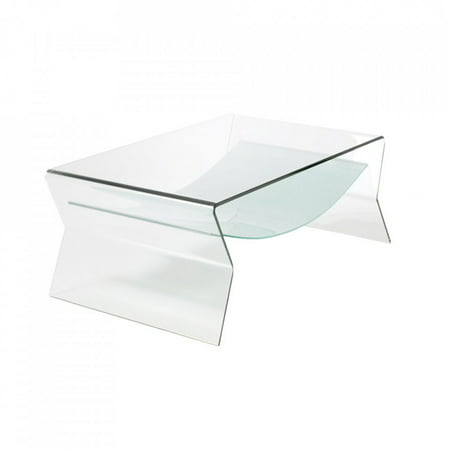 Bent Glass Side Table With Shelf 1 2 Inch Thick