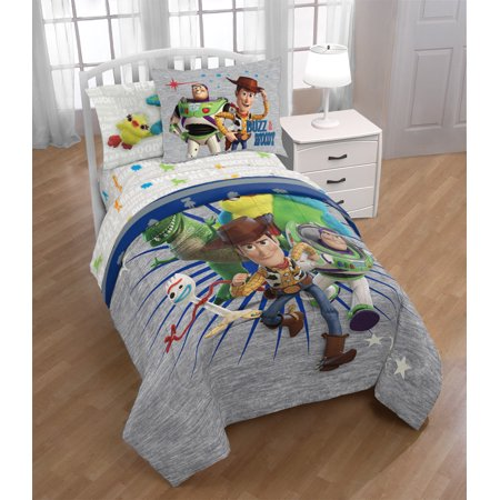 Disney Toy Story 4 Kids Bed in a Bag Bedding Set w/ Buzz, Woody, Rex, Forky & More