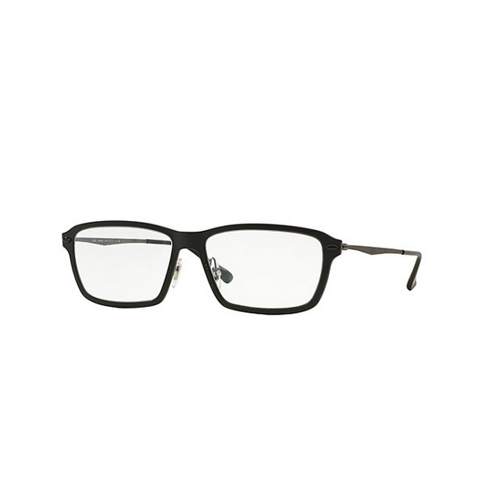 ... Ray-ban RX7038-2077-55 Light Ray Men\u0026#39;s Black Frame 55 mm Eyeglasses