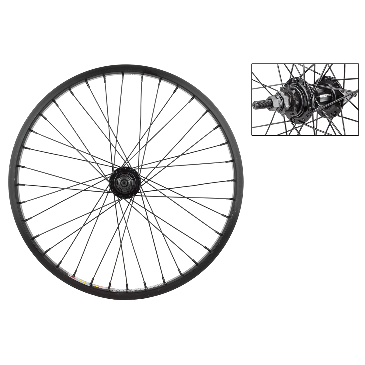 Weinmann DM30 BMX Rear Wheel 20X1.75 Black 1-Speed