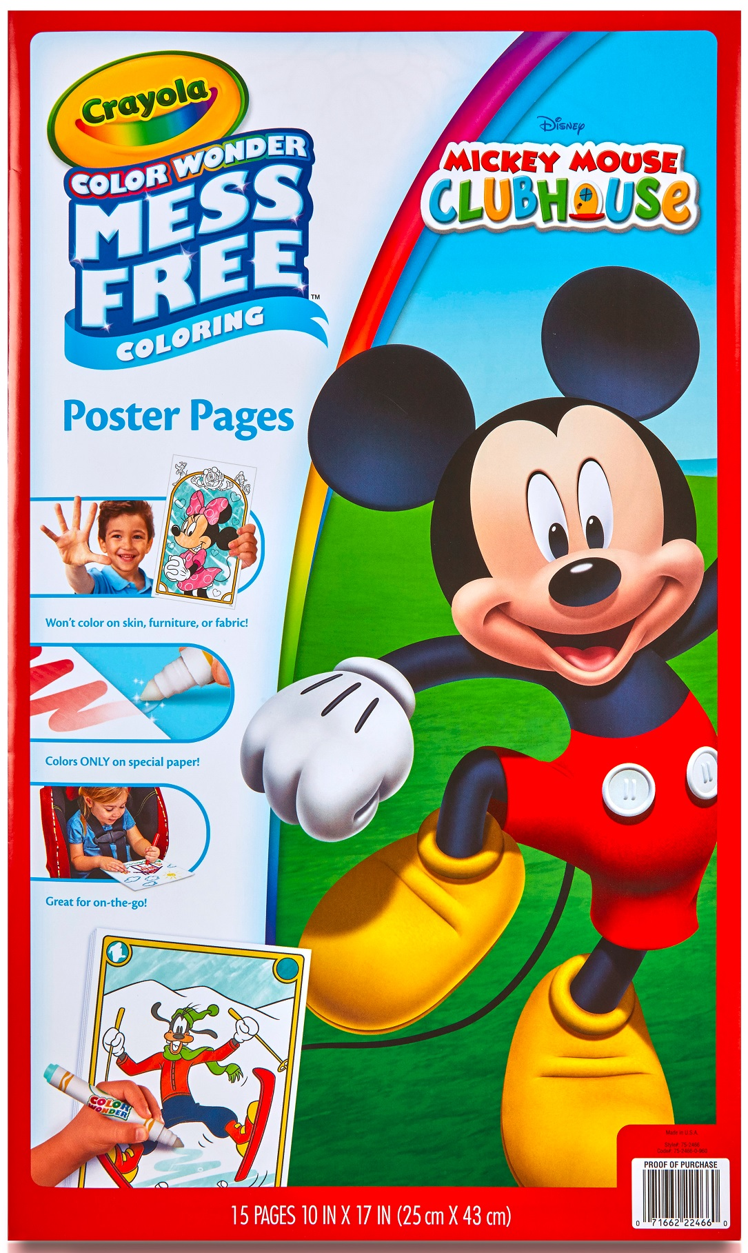 Crayola Color Wonder, Disney Mickey Mouse Clubhouse, 15 Poster Pages by Crayola