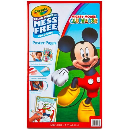 Crayola Color Wonder, Disney Mickey Mouse Clubhouse, 15 Poster Pages - Mickey Mouse Coloring Books
