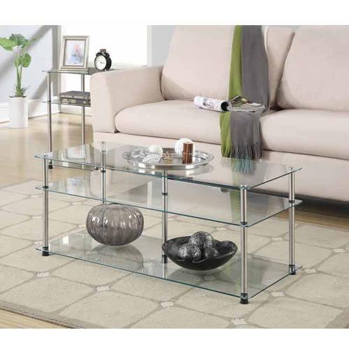 convenience concepts designs2go no tools 3 tier coffee table
