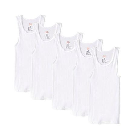 Boy's ComfortSoft Tagless Tank Undershirts, 5 pack