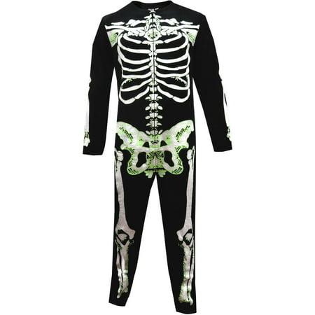 Unisex Glow In The Dark Skeleto.n Bones Onesie Pajama