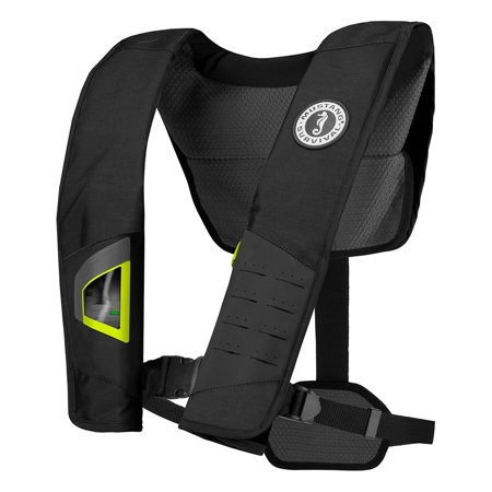 Mustang Survival 18511386 Mustang Dlx 38 Deluxe Automatic Inflatable Pfd - Black/fluorescent Yellow-green - Mustang Survival Automatic Inflatable