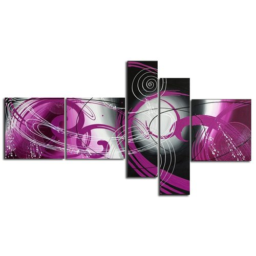 Design Art Abstract 5 Piece Painting on Canvas Set