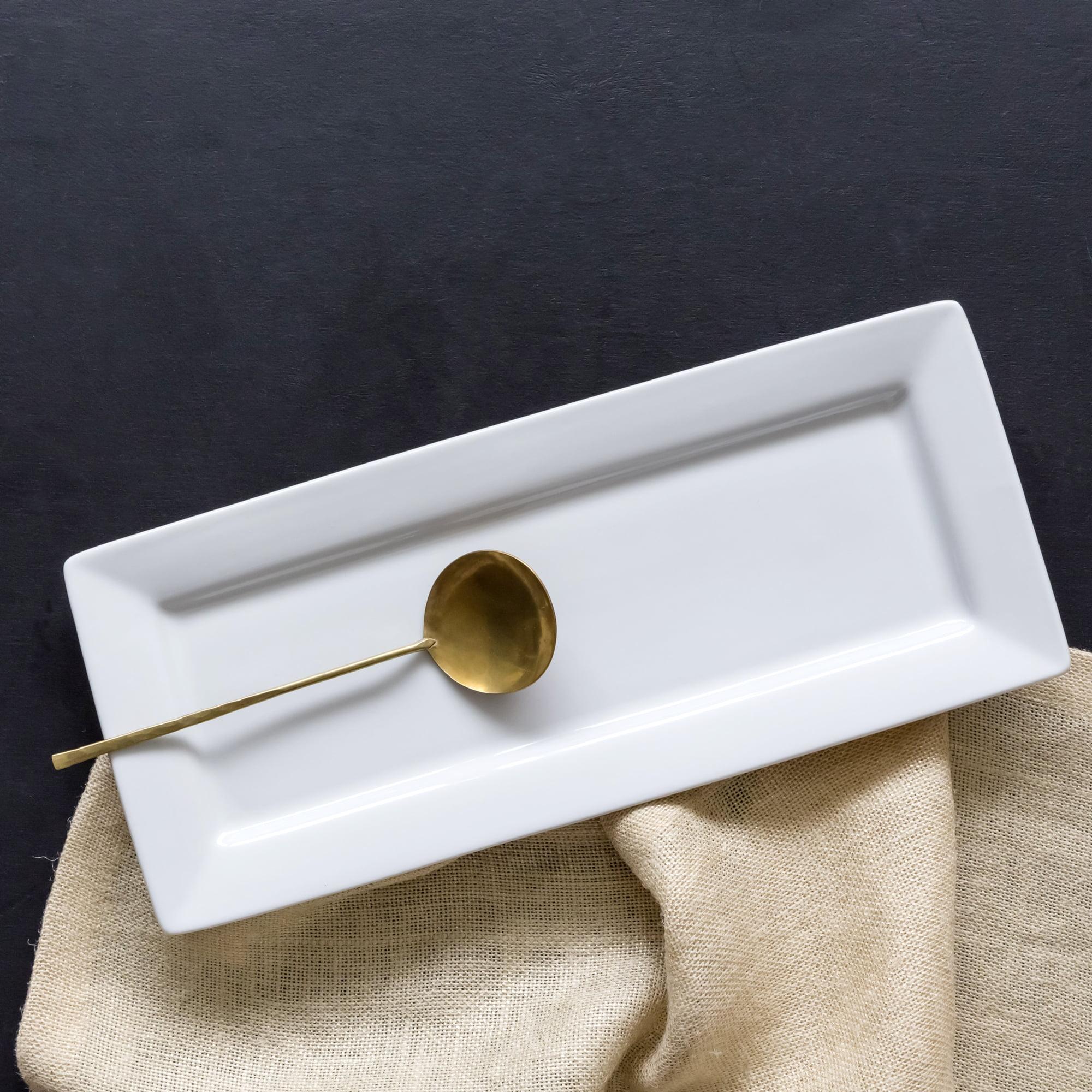 Better Homes and Gardens Rectangle Platter, White Porcelain by Better Homes and Gardens