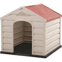"""Rimax Traditional Taupe Dog House for Small Breeds, 23"""" H x 24"""" W x 26"""" D"""