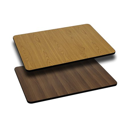 "Flash Furniture 30"" x 48"" Rectangular Table Top with Reversible Laminate Top, Multiple Colors"