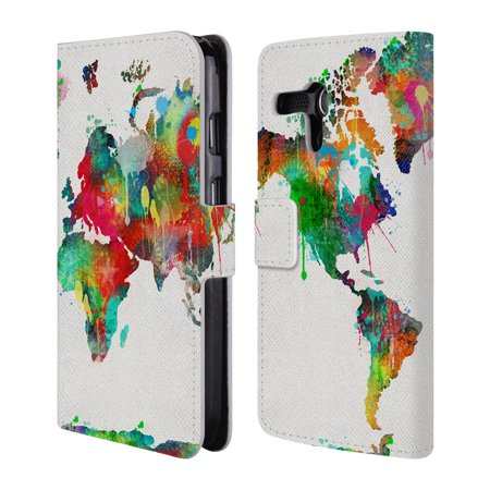 OFFICIAL ALI CHRIS MAP COLLECTION LEATHER BOOK WALLET CASE COVER FOR MOTOROLA PHONES 2