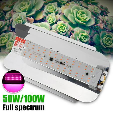 2Pcs 100W LED Grow Light Full Spectrum Outdoor/Indoor, Plant Grow Flood Light Growing Lamp Spotlight For Hydroponics Greenhouse Gardening - Light Plate Spotlight