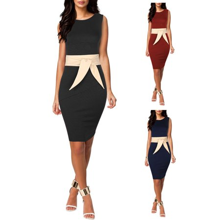 Sexy Dance Bodycon Dresses for Women Sleeveless Bandage Business Party Evening Cocktail Long Midi Pencil (New Irish Dance Solo Dresses For Sale)