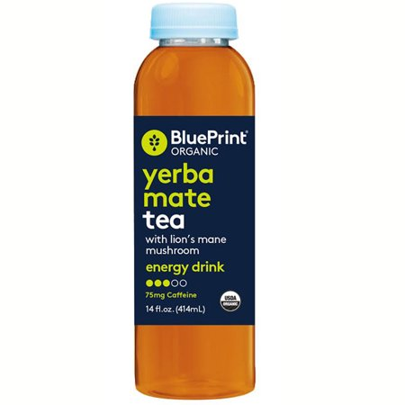 Blueprint organic organic yerba mate tea with lions mane mushroom blueprint organic organic yerba mate tea with lions mane mushroom energy drink 14 oz glass bottles malvernweather Image collections
