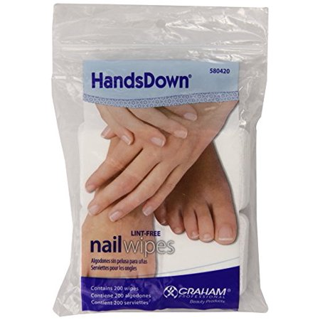 Graham Hands Down Nail Wipes, 200 Count - Nail Scarred Hands