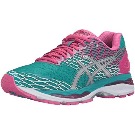 ASICS Women's Gel Nimbus 18 Running Shoe, LapisSilverSport Pink, 8.5 B US