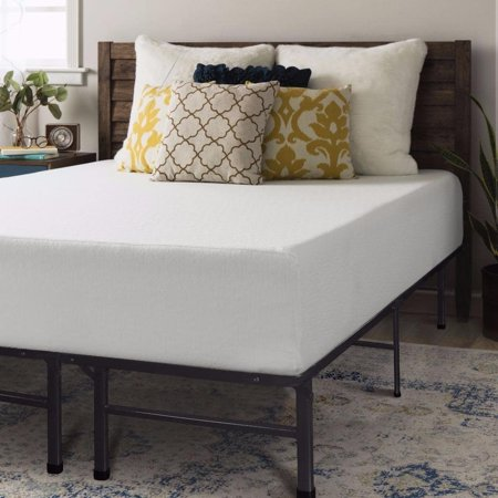 Crown Comfort King size Memory Foam Mattress 12 inch with Bed Frame ...