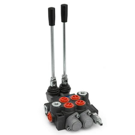 VEVOR 2 Spool Hydraulic Directional Control Valve 11gpm Adjustable Tractors
