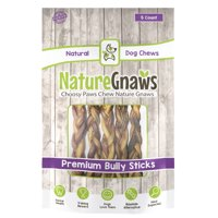 "Nature Gnaws Braided Bully Sticks 11-12"", 5 Count"