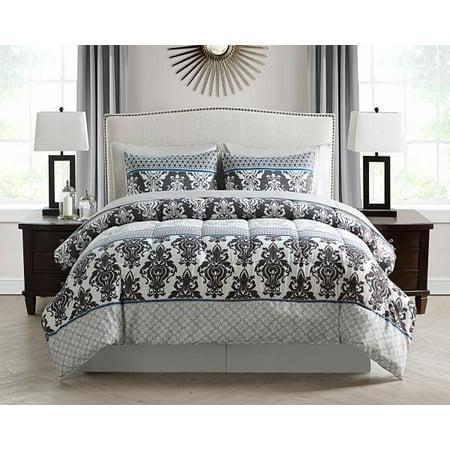BECKHAM BED IN BAG FULL 4PC COMF SET & 4PC SHEET SET-MULTI