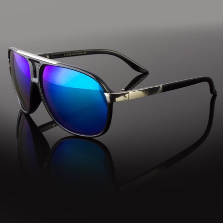 603bee83b7 80 s Classic Retro Mens Fashion Mirror Lens Aviator Vintage Designer  Sunglasses