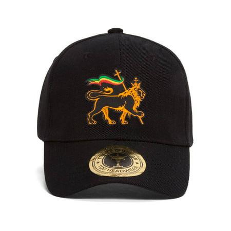 Rasta Lion of Judah Adjustable Baseball - Rasta Dread Hat