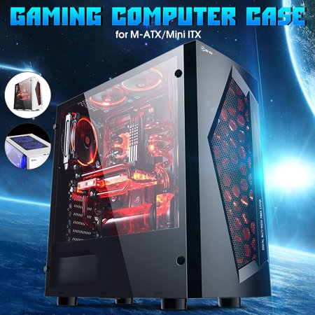 Black/White USB3.0 Ports MATX Cooler Gaming Computer Case with 8 LED Cooling Fans for Professional Gamers - image 1 de 8
