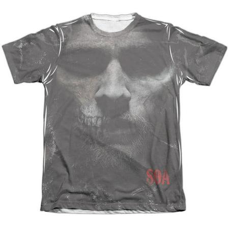 Sons Of Anarchy Men's  Jax Skull Sublimation T-shirt
