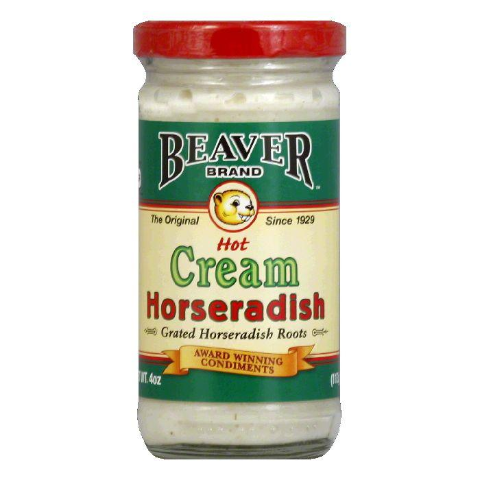 Beaver Cream Style Horseradish, 4 OZ (Pack of 12) by