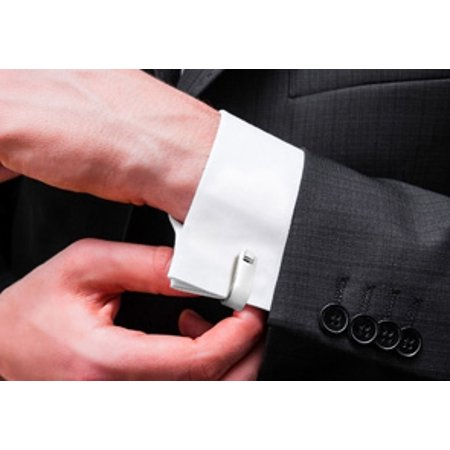 Octavius Stainless Steel Silver French Cufflinks (316l Stainless Steel Men Cufflinks)