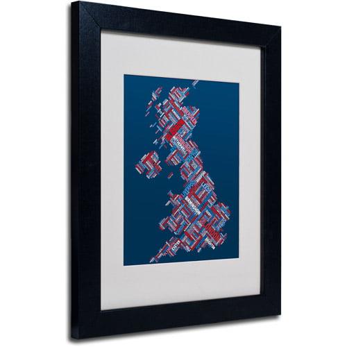 """Trademark Fine Art """"United Kingdom VI"""" Matted Framed Art by Michael Tompsett, Black Frame"""