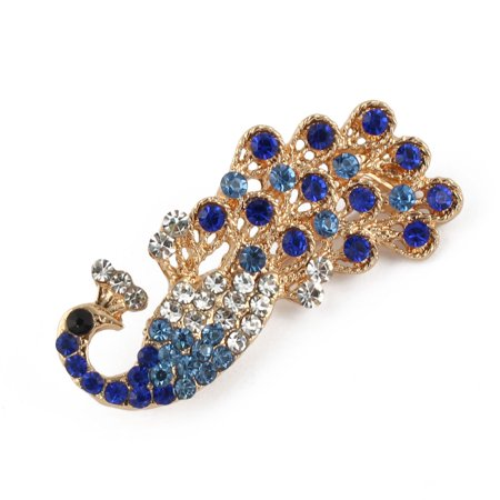 Women Metal Peacock Shape Hairstyle Snap Hair Clip Barrette Blue - 1950 Women's Hairstyles