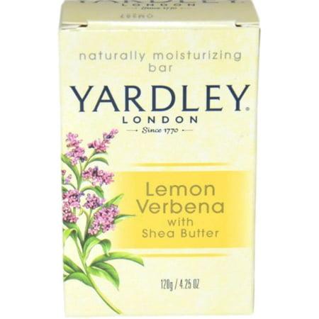 Yardley London Moisturizing Bar Lemon Verbena With Shea Butter 4.25 oz (Pack of