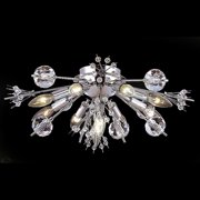 "Worldwide Lighting W33111C20 Chrome Starburst 10 Light 20"" Flush Mount Ceiling Fixture In"