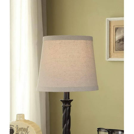 Gingham Lamp Shade (Mainstays Textured Accent Lamp Shade, Beige )