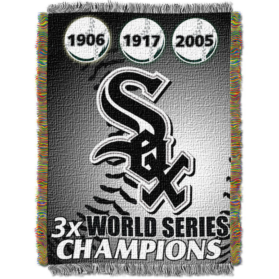 "MLB 48"" x 60"" Commemorative Series Tapestry Throw, White Sox"