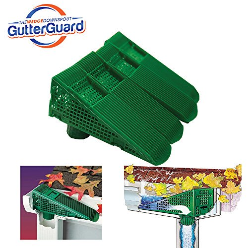 The Gutter Guard Wedge Eliminates Downspout Pipe Clogs From Leaves And Debris 4 Pack Green Walmart Com Walmart Com
