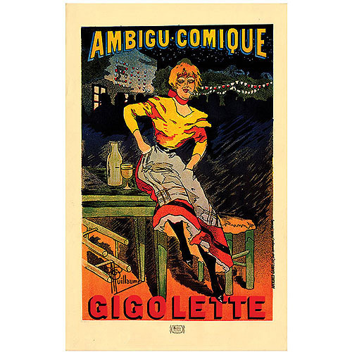 "Trademark Fine Art ""Le Theatre de L'Ambigu Gigolette"" Canvas Art by Albert Guillaume, 14x19"