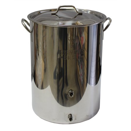 Brewer's Best 8 Gallon Stainless Steel Homebrewing Kettle - With Two