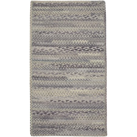 Capel Rug - Capel Rugs Harborview Cross Sewn Rectangle Braided Area Rug - Cinder - 24